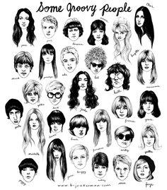 """""""Some Groovy People"""" on Behance Bijou Karman Illustrator Los Angeles, CA, USA"""