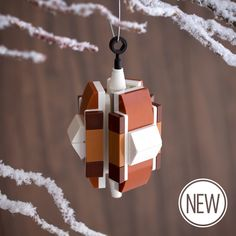 SNEAK PEEK! Buy now – building instructions available November 2 at http://chrismcveigh.com!  A Lego ornament custom designed by Chris McVeigh. The 45-piece Trident is very lightweight as a result of its unique three-faceted design.   Weight: 27g/0.95oz