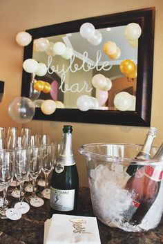 Baker's Sip + Sweets | baby girl sip and see | baby girl shower | mimosas