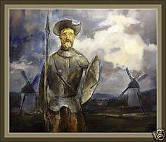 EL QUIJOTE DE LA MANCHA. Pintura. ERNEST DESCALS.