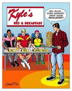 #GregFox #Kyle'sBedandBreakfast #TributetoAdventureComic247 #AdventureComic247Parody #CosmicBoy #LightningLad #SaturnGirl #LoSH #LegionofSuperHeroes #Brad #BradSteele #Lance #LancePowers #Richard # RichardRuben #Kyle #KyleGraham #SugarMaplePress On October 3rd, Silver Age, Comic Book Covers, Comic Strips, Marvel Dc, Dc Comics, Superhero, Guys, Adventure