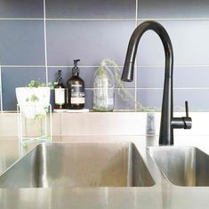 This elegant tap features soft-moving mixer handle and a pull-out ergonomically designed nozzle which, in combination with the extendable hose, ensures that you can reach everything in and around your sink with perfect control. Get The Look of Chris & Kim's Challenge Apartment Laundry in The Block 2016 with this tap.
