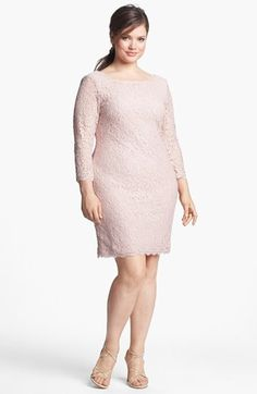 Lace overlay dresses plus size