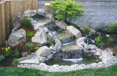 Waterfall And Fountain In Garden - 5