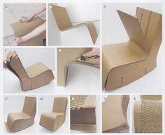 Fauteuil à bascule en carton