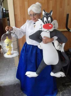 Tweety And Sylvester's Granny… As much as I love Tweety Bird, I'm not sure what to think of this picture...
