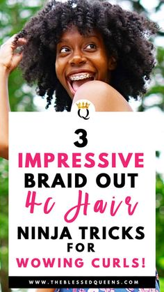 3 Impressive Braid Out Natural Hair 4c Ninja Techniques! - The Blessed Queens