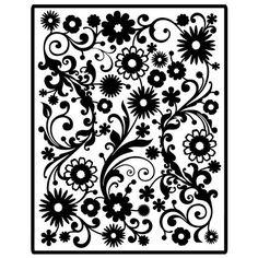 Spellbinders - Impressablilites - Embossing Templates - Flowers at Scrapbook.com