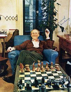 Marcel Duchamp & his chess set