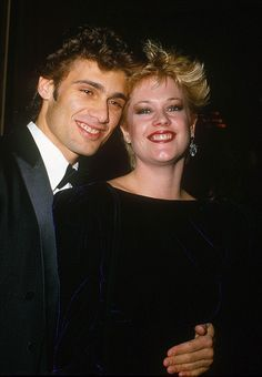 Back in the day: Melanie Griffith and Steven Bauer pictured together attending the Golden Globe Awards in Los Angeles in 1985 Famous Couples, Young Couples, Celebrity Couples, Celebrity Weddings, Melanie Griffith, Ex Husbands, Celebs, Celebrities, Beginning Sounds