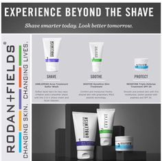 Rodan+Fields products are not just for women, men can use them also! Although there is one regimen that was made just for men & that's the Beyond the Shave! This would be a great Father's Day gift! Let your dad experience the BEYOND THE SHAVE!! Message me for more info!