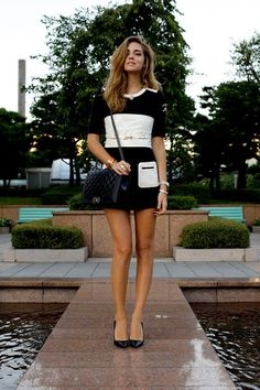 Black and white and Chanel