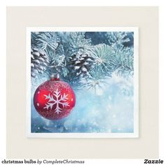 Shop christmas bulbs napkins created by CompleteChristmas. Holiday Cards, Christmas Cards, Christmas Paper Napkins, Cocktail Party Themes, Party Napkins, Ecru Color, White Elephant Gifts, Invitation Cards, Art For Kids