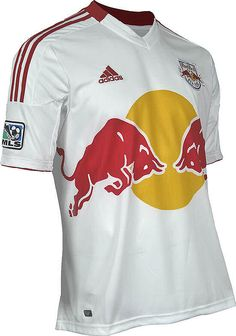 New York Red Bulls Short Sleeve Mens  Home Replica Soccer Jersey by Adidas $84.95
