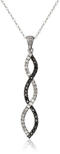 #blackdiamondgem 10k White Gold Black and White Diamond Infinity Pendant Necklace (1/4 cttw), 18″ by Amazon Curated Collection - See more at: http://blackdiamondgemstone.com/jewelry/necklaces/pendants/10k-white-gold-black-and-white-diamond-infinity-pendant-necklace-14-cttw-18-com/#!prettyPhoto