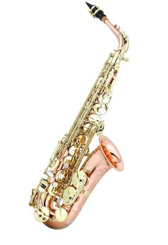 GORGEOUS Ravel Paris- RAS302RB - Professional Eb Rose Brass Alto Saxophone - Musical Supply Direct