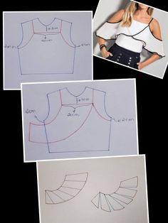 Best 11 Blusa con manga de capa asimétrica diy talla 46 p… – – SkillOfKing. Sewing Lessons, Sewing Class, Dress Sewing Patterns, Clothing Patterns, Fanni Stitch, Costura Fashion, Leotard Fashion, Sewing Blouses, Fashion Sewing