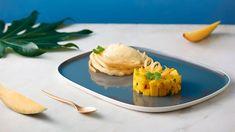 Mango tataráčik s limetkovou penou Lidl, Mango, Eggs, Breakfast, Sweet, Food, Manga, Meal, Egg