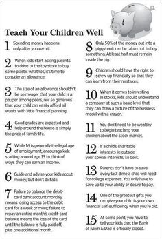 Personal Finance for Kids: Financial advice for your kids ... teach 'em young! #FinanceOffice #YoungParenting Education Positive, Kids Education, Positive Discipline, Kids Discipline, Parenting Advice, Kids And Parenting, Peaceful Parenting, Gentle Parenting, Parenting Styles