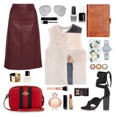 """""""#1029"""" by justadream133 ❤ liked on Polyvore featuring Vanessa Seward, Topshop, Gucci, MANGO, Patricia Nash, Victoria Beckham, OMEGA, Dolce&Gabbana, Michael Kors and Paco Rabanne"""