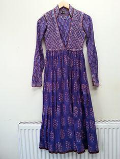 Anokhi Indian Cotton gauze Dress Gypsy India Festival dress Folk boho hippy Midi Dress XS Uk 6 8 US  2 4 s 70s 60s Indian anokhi dress by Beyondthevintage on Etsy https://www.etsy.com/listing/246406705/anokhi-indian-cotton-gauze-dress-gypsy