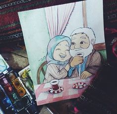 Islamic Images, Islamic Pictures, Islamic Art, Girl Cartoon, Cartoon Art, Couple Goals Tumblr, House Doodle, Couple Goals Cuddling, Hijab Drawing