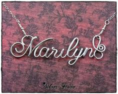 Marilyn Sterling Silver Calligraphy Script Name by SilverTrove, $54.97 In stock at SilverTrove on Etsy now!