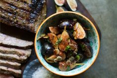 Grilled Flank Steak with Balsamic-Mint Fig Salsa | http%3A//saltandwind.com/recipes/course/dinner%3Fpage%3D4