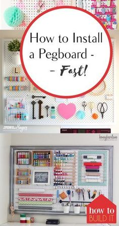 How to Install a Pegboard–Fast! Installing Pegboard, How to Install Pegboard, Quickly Install Pegboard, How to Quickly Install Pegboard, Home Tips and Tricks, Tips and Tricks for the Home, Home Improvement, Home Improvement Projects, Home Decor Tips, Popu