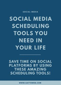 Social Media Scheduling Tools | Creative Business | Small Biz | Branding Web Design