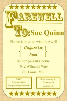 going away party invitations farewell burlap - Goodbye Party Invitation