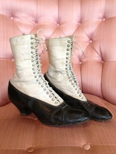 Antique Edwardian Victorian Lace up Boots Two by StylishPiggy, $125.00