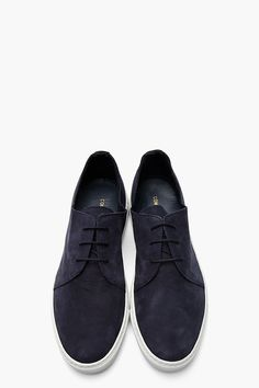 The Best Men s Shoes And Footwear   COMMON PROJECTS Navy Nubuck Rec Sneakers 36386ddea