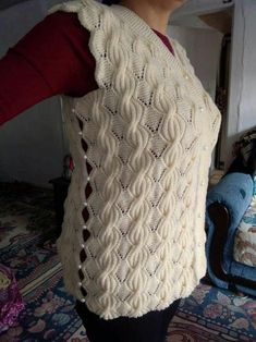 diy_crafts- This post was discovered by Vik Crochet Tunic Pattern, Baby Sweater Knitting Pattern, Easy Knitting Patterns, Crochet Jacket, Lace Knitting, Knitting Designs, Crochet Patterns, Beginner Knit Scarf, Diy Crafts Knitting