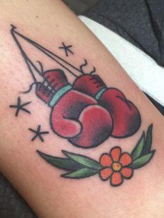 Old Tattoos, Badass Tattoos, Cute Tattoos, Body Art Tattoos, Small Tattoos, Tattoos For Guys, Sleeve Tattoos, Boxing Gloves Tattoo, Boxing Tattoos