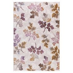 Persian Rugs Modern Falling Leaves with Fall Colors Area Rug (5'2 x 7'2) (Cream, 5'2 x 7'2), Beige (Polypropylene, Abstract)