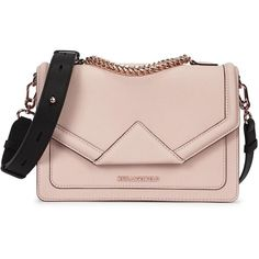 Womens Shoulder Bags KARL LAGERFELD Klassik Blush Saffiano Leather... (600 BRL) ❤ liked on Polyvore featuring bags, handbags, malas, satchel hand bags, satchel handbags, karl lagerfeld bag, karl lagerfeld und pink bag
