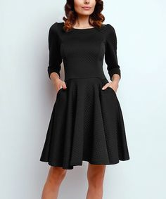 Look what I found on #zulily! Black Side-Pocket Fit & Flare Dress by NAOKO #zulilyfinds