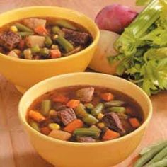 Chunky Veggie Beef Soup Recipe - Holiday Cottage