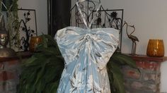 1980's Tropical Halter Dress by ParrotMoon on Etsy
