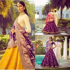 Spring 2018 Choli Designs, Lehenga Designs, Saree Blouse Designs, Indian Bridal Wear, Indian Wedding Outfits, Indian Outfits, Bridal Lehenga, Lehenga Choli, Sarees