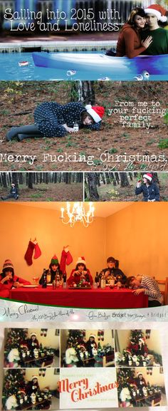 LOL. This is perfect Christmas card inspiration for any and all single ladies out there.