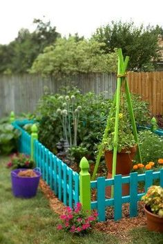 Colorful & Bright Garden Fence