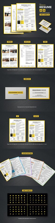 Complete Resume Vol 5 PowerPoint Templates $700 PowerPoint - powerpoint resume
