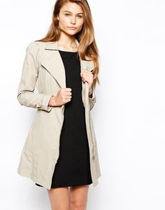 Vila Coralla Trench Coat | ASOS | $91.46 - Super simple trench coat. Not too many buckles and belts.