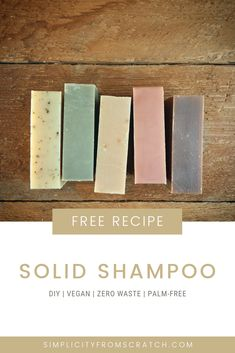 DIY Solid Shampoo Bar recipe from Stacey Langford of Coghlan Cottage Farm. Vegan, Palm Oil Free, SLS Free, All-Natural. Learn to make solid shampoo at home from scratch. Diy Shampoo, Solid Shampoo, Shampoo Bar, Dishwasher Soap, Homemade Soap Recipes, Lotion Bars, Homemade Beauty Products, Diy Skin Care, Home Made Soap