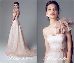 Dettaglio spallina abito rosa Blumarine 2014
