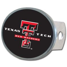 Texas Tech Raiders Oval Metal Hitch Cover Class II and III CTHO30