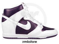 "Nike Wmns Dunk Sky Hi QS Wedge Heel ""Imperial Purple/Sail"""