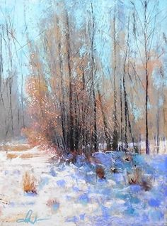 Winter Tree Line by Tom Christopher Pastel ~ 24 x 18